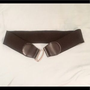 Express Accessories - NWT- black elastic and leather belt